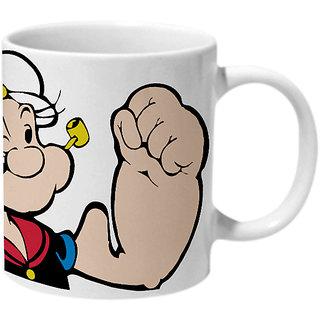 Mooch Wale Popeye Big Biceps Ceramic Mug