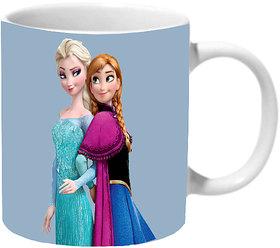 Mooch Wale Frozen Elsa And Anna Ceramic Mug