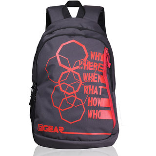 F Gear Diamond Octa 25 Liter Backpack ( Grey Red)