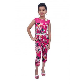 Ttrit pink  cotton jumpsuit
