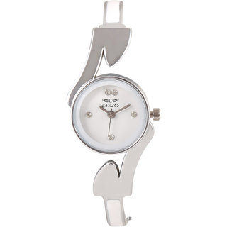 Carlos DesignerWhite Dial Analog Girls Watch