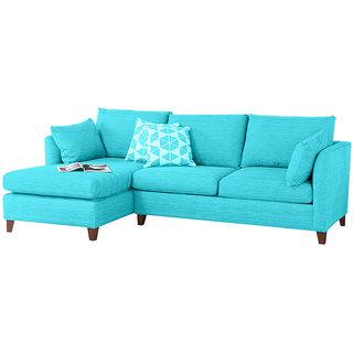 Farina Blue L Shape Sofa