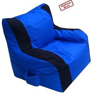 JBKFurnitures   Arm Chair Denier Bean Bag Chair Cover (Without Filling)