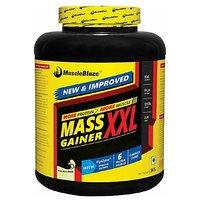 MuscleBlaze Mass Gainer XXL 3 Kg / 6.6 Lbs Kesar Pista