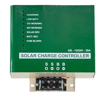 BIOSOL TECHNOLOGIES 12/24V/20A PWM Solar Charge Controller