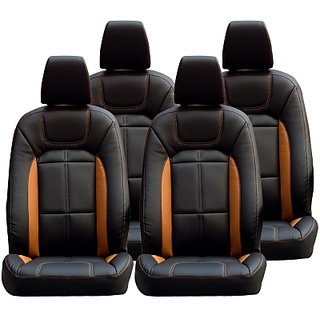 Hyundai Elite I20 black Leatherite Car Seat Cover