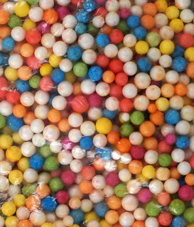 Thermocol Balls Multicolor 30 Gm