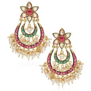 Buy jewels galaxy royal pearls embedded multicolor chandelier jewels galaxy royal pearls embedded multicolor chandelier earrings aloadofball Choice Image