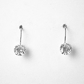 Silver zircon earring to be touched by nature, is to infuse the spirit with life.