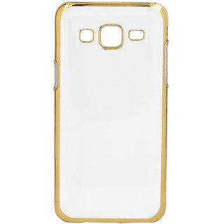 MuditMobi Stylish MeePhone Soft Silcon Back Cover For- Samsung Galaxy A8- Transparent-Gold