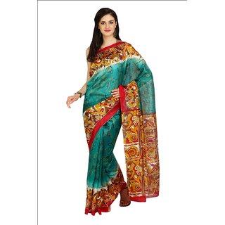 Iraya Green Art Silk Printed Saree