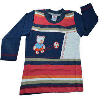 Mama  Bebes Infant Wear - Boys Full Sleeve T Shirt ,Navy Blue mbbft77navy3-4