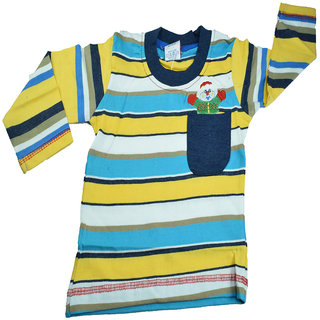 Mama  Bebes Infant Wear - Boys Full Sleeve T Shirt ,Blue mbbft78blue1-2