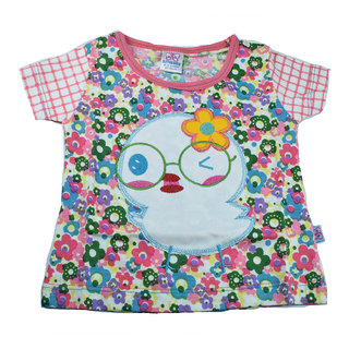 Mama  Bebes Infant Wear - Kids Round Neck Tshirt,Pink mbgts45pink6-12