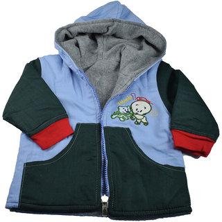 Mama  Bebes Infant Wear - Kids Reversible Fleece Jacket,Green mbbjk33green2-3