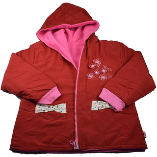 Mama  Bebes Infant Wear - Kids  Fleece Jacket,Red mbgjk29red6-12