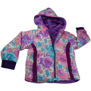 Mama  Bebes Infant Wear - Kids Reversible Fleece Jacket,Lavendar mbgjk32lav4-5