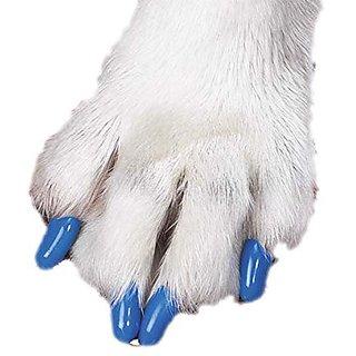 Futaba Pet Nail Cover - Blue - 20Pcs