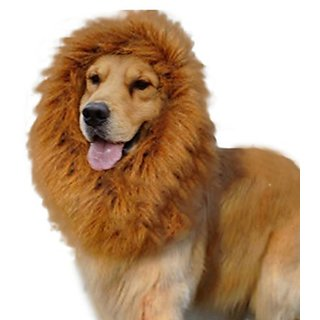 Futaba Dog Lion Mane Wig Costume - Large