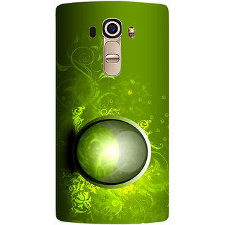 Casotec 3Dgreen Vector Design Hard Back Case Cover for LG G4