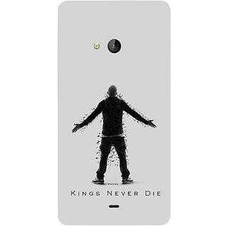 Casotec Eminem Kings Never Die Design Hard Back Case Cover for Microsoft Lumia 540