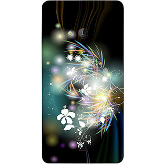 Casotec 3D Flower Design Hard Back Case Cover for Microsoft Lumia 540