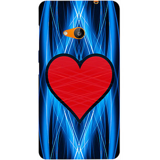 Casotec Heart Abstract Design Hard Back Case Cover for Microsoft Lumia 535