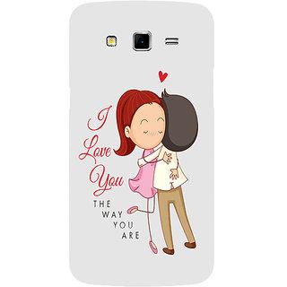 Casotec I Love You Design Hard Back Case Cover for Samsung Galaxy Grand 2 G7102 / G7105
