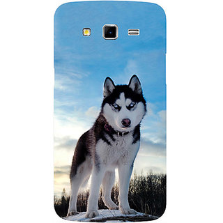 Casotec Siberian Husky Design Hard Back Case Cover for Samsung Galaxy Grand 2 G7102 / G7105