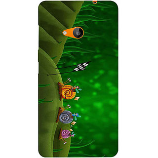 Casotec Snail Racing Design Hard Back Case Cover for Microsoft Lumia 535