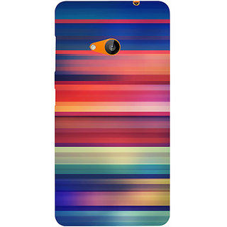 Casotec Colorful Stripes Design Hard Back Case Cover for Microsoft Lumia 535