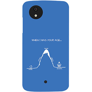 Casotec When I Was Your Age Design Hard Back Case Cover for Micromax Canvas A1