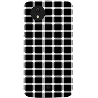 Casotec Grid Illusion Design Hard Back Case Cover for Micromax Canvas A1