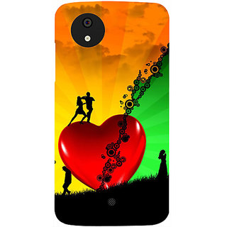 Casotec Needs Love Design Hard Back Case Cover for Micromax Canvas A1
