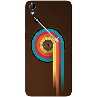 Casotec Music Design Hard Back Case Cover for HTC Desire 728G