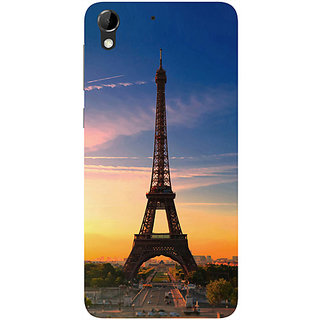 Casotec City Of Love Design Hard Back Case Cover for HTC Desire 728G