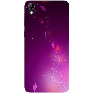 Casotec Purple Design Hard Back Case Cover for HTC Desire 728G