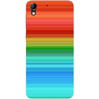 Casotec Color Pattern Design Hard Back Case Cover for HTC Desire 728G