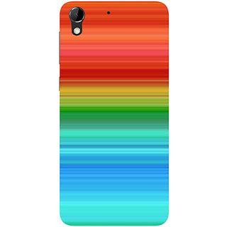 Casotec Color Pattern Design Hard Back Case Cover for HTC Desire 728G