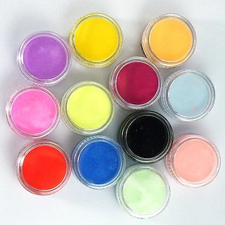 12 Colors Nail Art Design Decoration Tips Acrylic 3D UV Gel Powder Dust