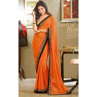 Roop Kashish  Georgette Fancy Saree-Black-RKVS10011-VS-Georgette