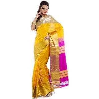 SURAMANYAM  KANCHIVARAM PURE SILK SAREE COLLECTIONS-Yellow-SGSS1285-VN-Silk