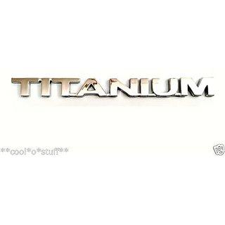 Logo Titanium Monogram Emblem Chrome Ford Eco Sport Ecosport Figo Fiesta