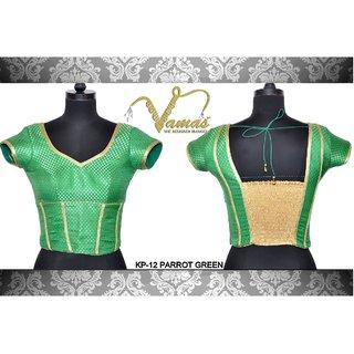 VAMAS DESIGNER NEW BLOUSES-Green-VDBMKP12SL381-VP-Net