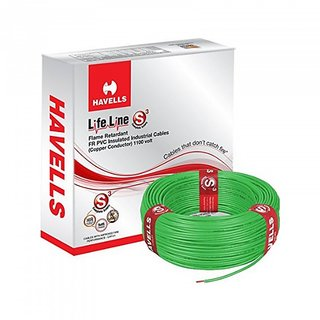 Rewa Havells Lifeline Cable 1 Sq Mm Wire (Green)90mtrs