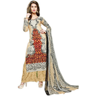 Glitzy Lawn cotton semi stiched salwar suit dupatta material