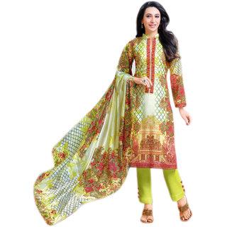 Glitzy Nett Lawn cotton semi stiched salwar suit dupatta material