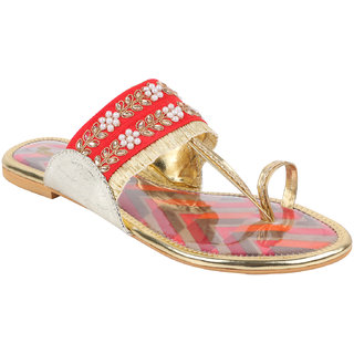 OSTRO Womens Red Sandal