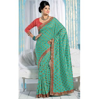 SILK INDIA NEW DESIGNER SAREE-Green-SIIL563-VM-Dupion Silk
