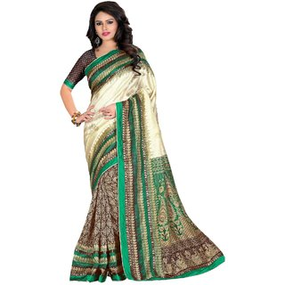 SUDARSHAN KASHMIRI SAREE-Cream-MSC830-VP-Synthetic Georgette